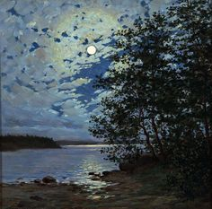 Moonlight by Thure Sundell (1864-1924)