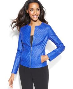 ALFANI Quilted Faux-Leather Jacket. Taille XL. REF 5088/XL.