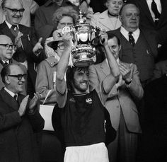Billy lifts the FA Cup in 1975