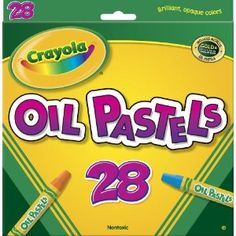 """A step up from standard crayons.  The bright blend-able colors and smooth texture make kids feel like """"real"""" artists. Crayola 28ct Colored Oil Pastel Sticks $4"""