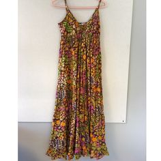 Boho Hippie Maxi Floral Summer Dress. SM Festival Boho Hippie Maxi Floral Summer Dress. Size small. Long dress. Hit ankles and I'm 5'4. Super cute with sandals. Light and airy fabric. Multi colored flower print. Festival // Free People, Anthropolgie style. Dresses