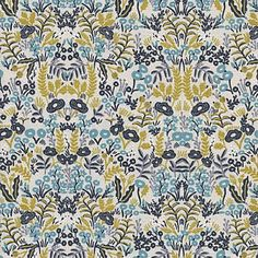 Rifle Paper Co Menagerie Tapestry in Natural with Metallic for Cotton and Steel Fabric, Choose your cut