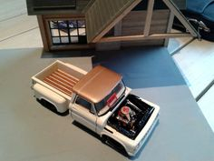 Truck Model with scratch built building.