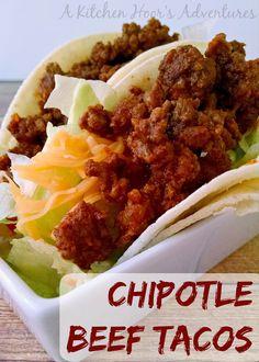 Chipotle Beef Tacos on MyRecipeMagic.com