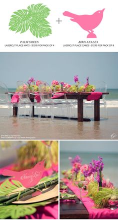 Wavefront wedding table styling inspired by Ceci New York lasercut paper accesories