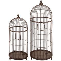 2-Piece Birdcage Decor Set