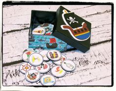 Pirate Matching Game  40 piece set plus storage box by V3STIOs, $12.99