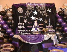 Purple Rain 50th Birthday Bash Party Ideas For Men 60th