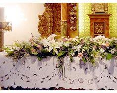 Decoración para la iglesia / boda / Floreria Lino