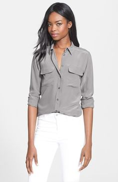 Equipment+'Slim+Signature'+Silk+Shirt+available+at+#Nordstrom