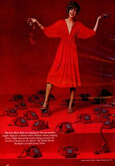 Ladies Home Journal - December, 1977 1977 Fashion, December, Journal, Lady, Hot, Dresses, Vestidos, Dress, Gown