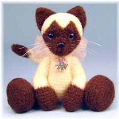 Teds From Threads And More - Miniature Thread Crochet Bears