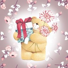Happy Birthday Forever Friend, Happy Birthday Teacher, Bear Birthday, Friends Forever, Cute Teddy Bear Pics, Birthday Wishes Cards, Birthday Greetings, Friend Cartoon, Teddy Bear Pictures