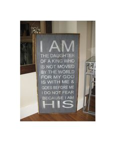 18x36 I am the daughter of a King framed sign on reclaimed wood Nursery Gift* Children's room decor* House Wares*