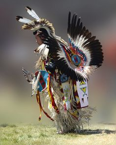 Mens traditional dancer at the 2013 Julyamsh Powwow.