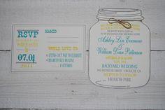 Mason Jar Wedding Invitations- Best Ways To Use Mason Jars At Your Wedding