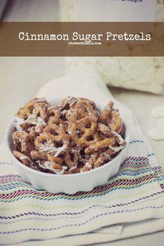 cinnamon sugar pretzels ohsweetbasil.com
