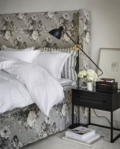 Ljung • Slettvoll The White Company, Zara Home, Black And White Design, Nordic Style, Nightstand, Chic, Bed Pillows, Pillow Cases, Furniture