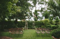 Wedding arch for country/ garden weddings. Old wooden ladders. Image: Cavanagh Photography http://cavanaghphotography.com.au Old Wooden Ladders, Country Garden Weddings, Portal, Altar, Wedding Ceremony, Arch, Runway, Bow, Altars