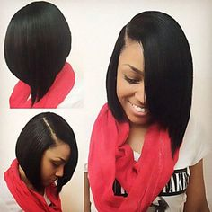 Short Wigs for Women Black Wig Synthetic Straight Wigs Cheap Hair for Women Sale Black
