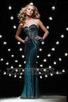 Trumpet/Mermaid Princess Strapless Sweetheart Chiffon Prom Dresses at IZIDRESSES.com