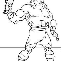 Samson Samson Fight With Lion Coloring Page Samson Fight with Lion