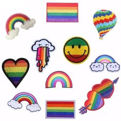 Rainbows NEW Retro Pop Cool Little Patch Things Pride Embroidered,Party Favor