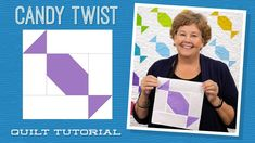 "Make a ""Candy Twist"" Quilt with Jenny! Jenny Doan Tutorials, Msqc Tutorials, Quilting Tutorials, Missouri Quilt Tutorials, Halloween Quilts, Halloween Table, Halloween Candy, Charm Pack Quilts, Star Quilt Patterns"