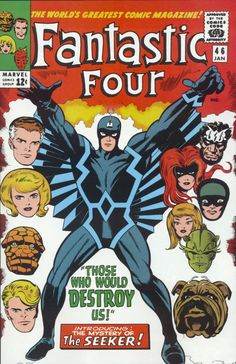 Fantastic Four | Black Bolt | The Inhumans, cover by Kirby