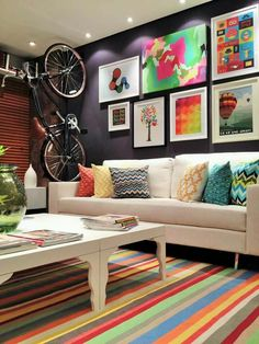 Awesome Color Palette Ideas For Beautiful Living Room Color is one of the greatest breakthroughs in history. Remember when the television that we use only black and white? Well, as time passes, black and white become colored. Color is constantly evolv… Living Room Decor Colors, Colourful Living Room, Living Room Color Schemes, Beautiful Living Rooms, Decor Room, Room Colors, Living Room Designs, Home Decor, Room Decorations
