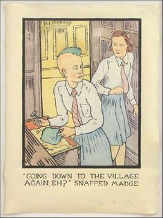 Glen Baxter - Going down to the village again?