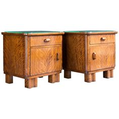 Art Deco Nightstands | From a unique collection of antique and modern night stands at https://www.1stdibs.com/furniture/tables/night-stands/
