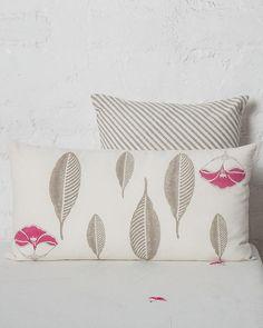 Frangipani Foliage Cushion