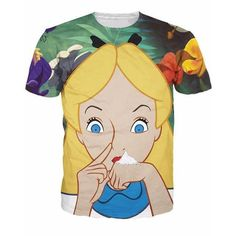 Alice in Cocaland T-Shirt sick sexy naughty vibrant tee Casual tops camisetas fashion clothing t shirt for women men 3d T Shirts, Sexy Shirts, Casual T Shirts, Casual Tops, T Shirts For Women, Printed Shirts, Funny Fashion, New Fashion, Fashion Outfits