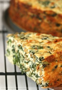 Three Cheese and Wheat Berry Spinach Pie