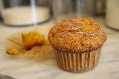 Pumpkin Muffins- used 1/2 the sugar and added vanilla, used 1 cup wheat flour 1/2 cup white.  Almost Panera