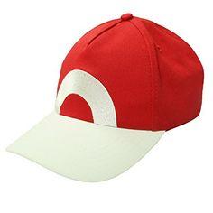 b55d44d47c3f1 XCOSER Trainer Hat Baseball Cap Snapback Hats Costume Accessories for  Halloween Ash Ketchum Cosplay