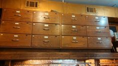 1960s Oak School Science Lab Drawers in Park Slope, Brooklyn ~ Apartment Therapy Classifieds