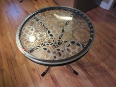 Recycled Bike Part End Table (C). $300.00, via Etsy.