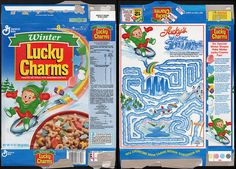 general mills cereal boxes | General Mills - Winter Lucky Charms Cereal box - 1993 | Flickr - Photo ...