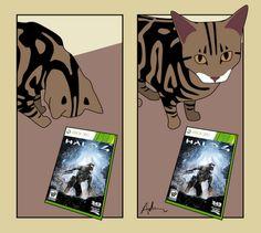 """So I guess I'll see you again in a week?"" - A Tale of Two Cats by Adam Joseph White See You Again, Comics, Cats, Gatos, Cartoons, Cat, Kitty, Comic, Comics And Cartoons"