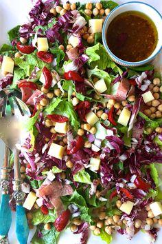 Antipasti Chopped Salad | ReluctantEntertainer.com