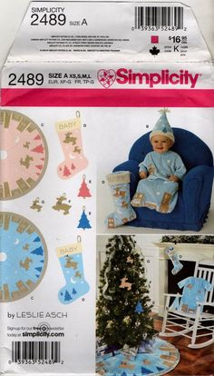 2489 Baby Bunting Hat Christmas decoration sewing pattern treeskirt stocking     eBay