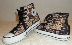 Rare Graphics womens  Converse Chuck Taylor  High Tops Sneakers shoes 6 GC #Converse #FashionSneakers