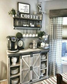 Coffee Bar Home, Coffee Nook, Coffee Corner, Coffee Bars In Kitchen, Coffee Bar Ideas, Wine And Coffee Bar, Coffee House Decor, Coffee Kitchen Decor, Coffee Bar Station