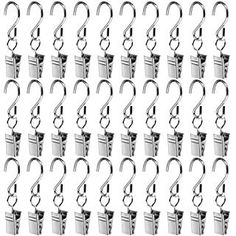 Bedroom Bathroom 10pcs Shower Curtain Clip with Hook String Party Lights Hanger Wire Holder for Photos
