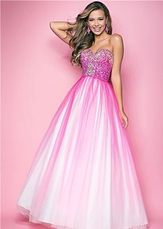 gorgeous ombre prom dress