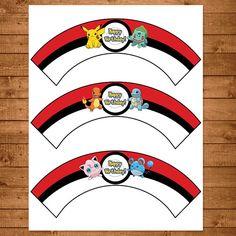 Pokemon Cupcake Wrappers Red & White por NineLivesNotEnough