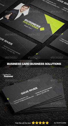 Business Card Business Solutions - Template  #GraphicRiver         Excellent business card for your Company Business!  	 • PSD • CMYK • 300DPI • 3.5X2 • EASY TO MODIFY • SMART OBJECT  	 Font: • Arial • Arial Black  Link Photo photodune /item/smiling-businessman-in-black-suit-gives-handshake/5281667?WT.ac=portfolio_thumb&WT.seg_1=portfolio_thumb&WT.z_author=valuavitaly     Created: 4September13 GraphicsFilesIncluded: PhotoshopPSD Layered: Yes MinimumAdobeCSVersion: CS PrintDimensions: 3.5x2…