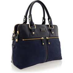 MODALU PIPPA Navy Leather Grab ($312) ❤ liked on Polyvore featuring bags, handbags, real leather handbags, navy leather handbag, navy blue handbags, top handle handbags and genuine leather purse